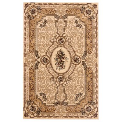 Brillante Cream/Beige Area Rug Rug Size: 33 x 411