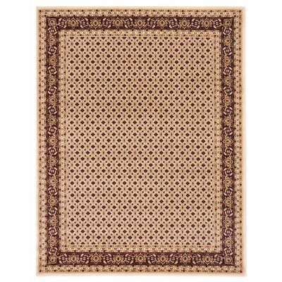 Brillante Cream/Red Area Rug Rug Size: 86 x 116