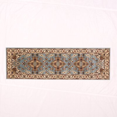 Brillante Blue/Cream Area Rug Rug Size: Runner 23 x 76