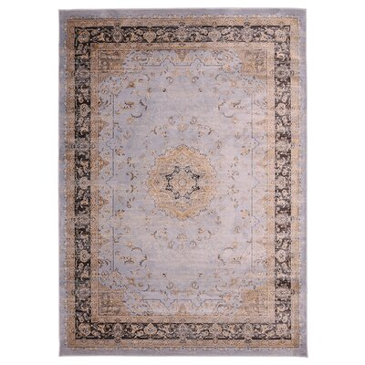 Jas Light Gray/Brown Area Rug Rug Size: 76 x 910