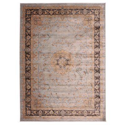 Jas Light Brown/Black Area Rug Rug Size: 33 x 411