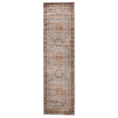Jas Light Brown/Black Area Rug Rug Size: Runner 23 x 76