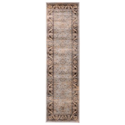 Jas Light Blue Area Rug Rug Size: Runner 23 x 76