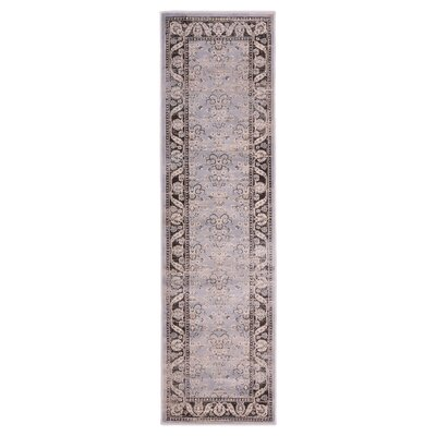 Jas Light Gray/Black Area Rug Rug Size: Runner 23 x 76