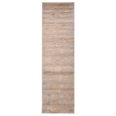 Jas Light Blue/Brown Area Rug Rug Size: 33 x 411
