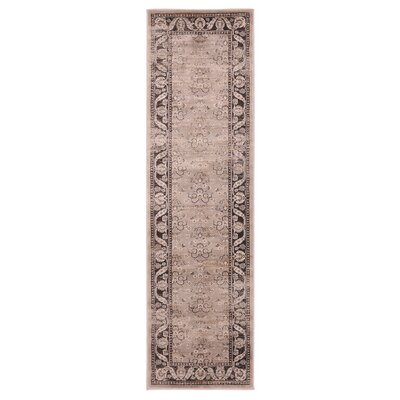 Jas Light Brown Area Rug Rug Size: Runner 23 x 76