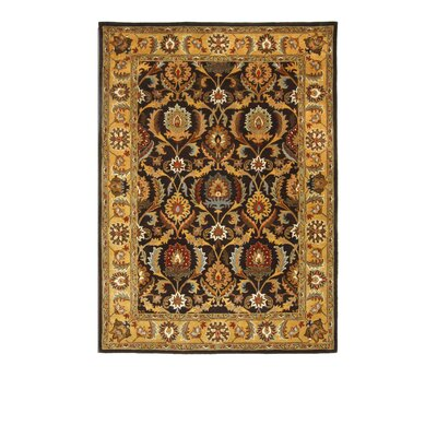 Tempest Light Gold/Cola Area Rug Rug Size: 8 x 11