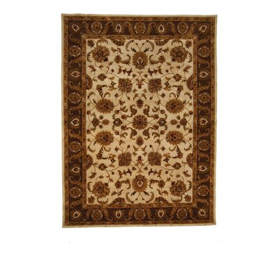 Tempest Ivory/Brown Area Rug Rug Size: 8 x 11
