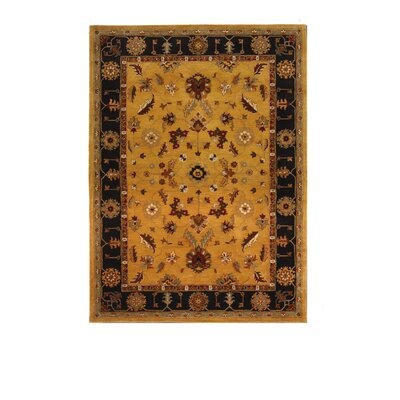 Tempest Light Gold/Black Area Rug Rug Size: 8 x 11
