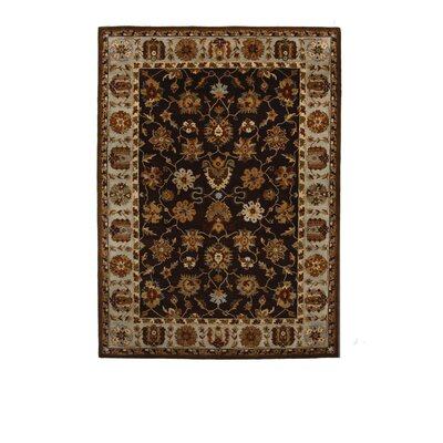 Tempest Cola/Grey Area Rug Rug Size: 8 x 11