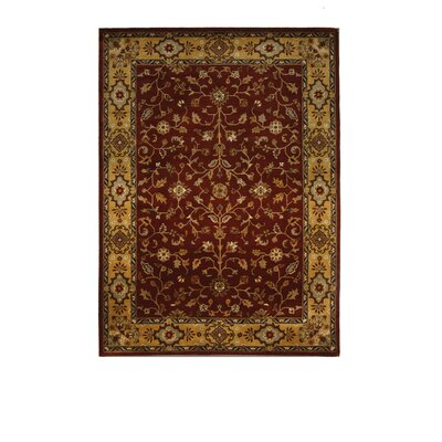 Tempest Rust/Light Gold Area Rug Rug Size: 8 x 11