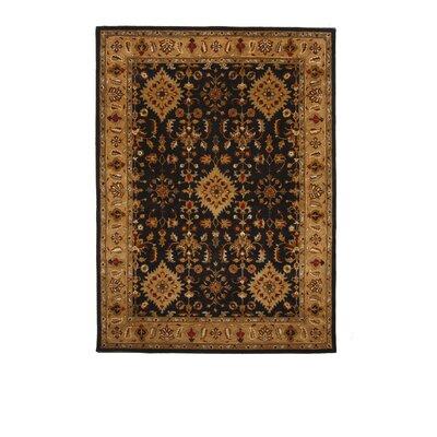 Tempest Black/Camel Area Rug Rug Size: 8 x 11