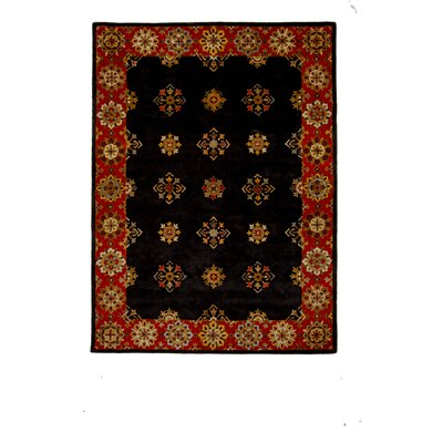 Tempest Black/Red Area Rug Rug Size: 8 x 11