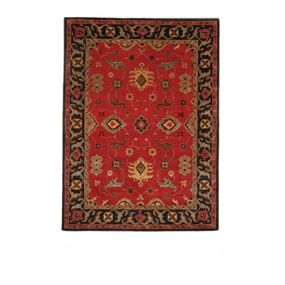 Tempest Red/Black Area Rug Rug Size: 8 x 11