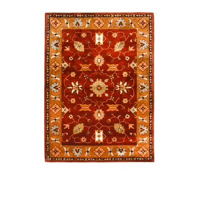 Tempest Rust/Dark Gold Area Rug Rug Size: 8 x 11