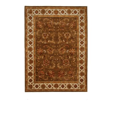 Tempest Brown/Yellow Area Rug Rug Size: 8 x 11