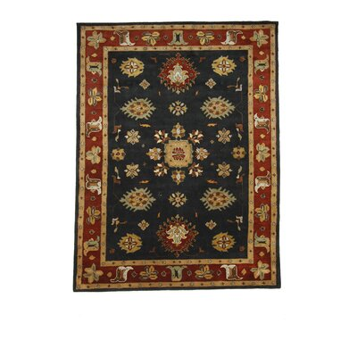 Tempest Black/Rust Area Rug Rug Size: 8 x 11