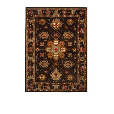 Tempest Cola/Gold Area Rug Rug Size: 8 x 11