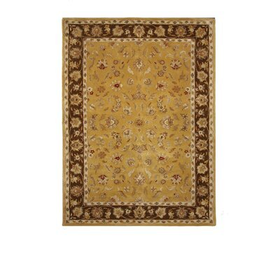 Tempest Light Gold/Brown Area Rug Rug Size: 8 x 11