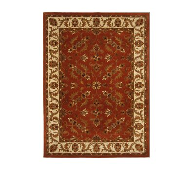 Tempest Rust/Ivory Area Rug Rug Size: 8 x 11
