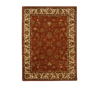 Tempest Rust Area Rug Rug Size: 8 x 11