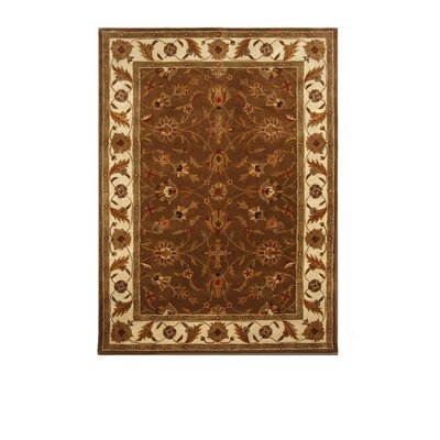 Tempest Dark Brown/Ivory Area Rug Rug Size: 8 x 11