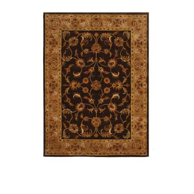 Tempest Dark Brown/Camel Area Rug Rug Size: 8 x 11