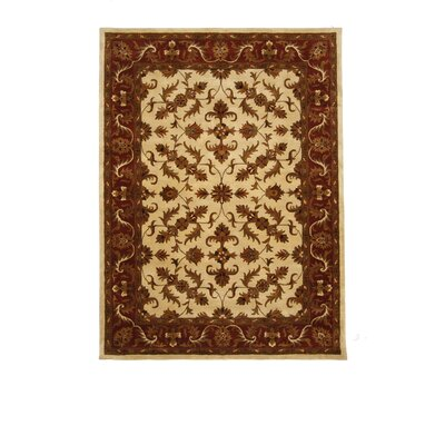 Tempest Ivory/Maroon Area Rug Rug Size: 8 x 11