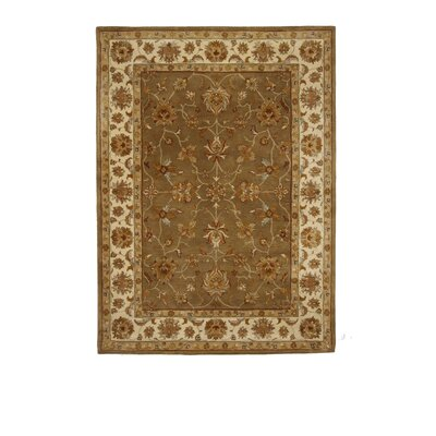 Tempest Medium Green/Ivory Area Rug Rug Size: 8 x 11