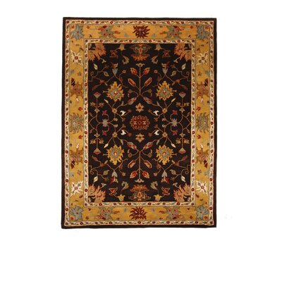 Tempest Cola/Light Gold Area Rug Rug Size: 8 x 11