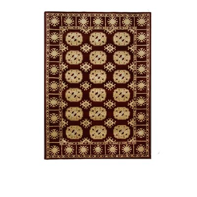 Tempest Dark Red Area Rug Rug Size: 8 x 11