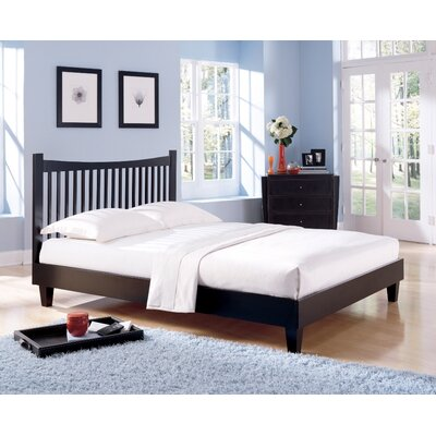 Jakarta Platform Bed Size: King, Color: Black