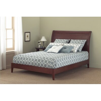 Java Platform Bed Size: Full, Color: Mahogany