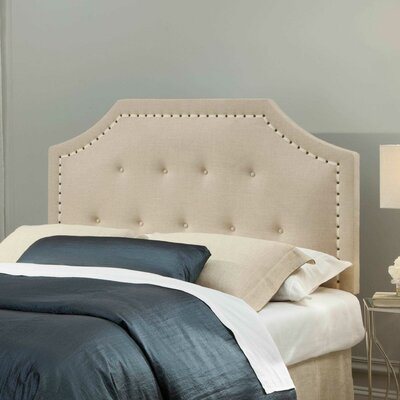 Avignon Upholstered Panel Headboard Size: King