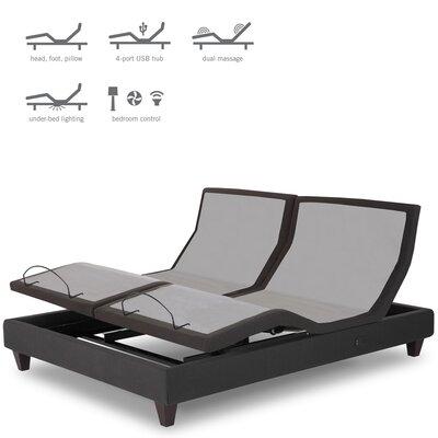 Split California King Upholstered Adjustable Bed
