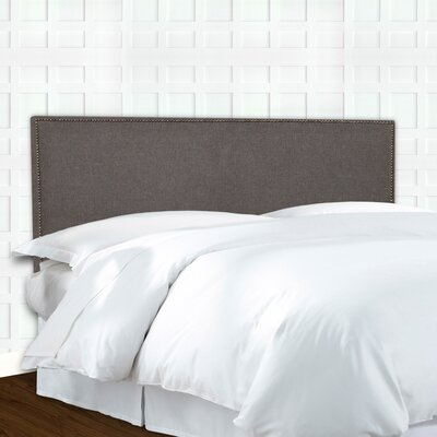 Brookdale Nailhead Trim Upholstered Panel Headboard Size: Full / Queen
