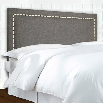 Wellford Nailhead Trim Upholstered Panel Headboard Size: King / California King
