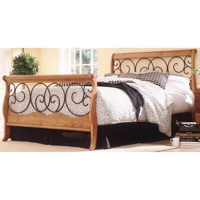 Wood and Metal Sleigh Bed Size: Queen