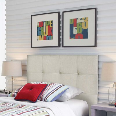Betty Wood Upholstered Panel Headboard Size: Full