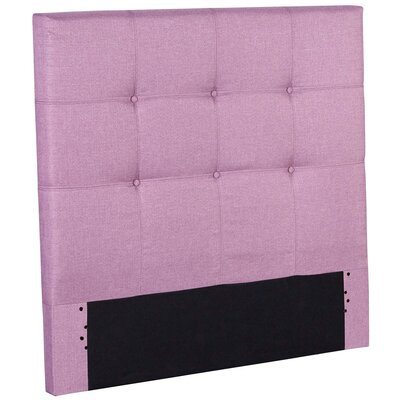 Betty Wood Upholstered Panel Headboard Size: Twin, Color: Orchid