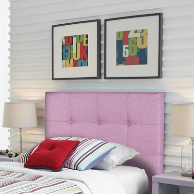 Betty Pink Upholstered Panel Headboard Size: Twin