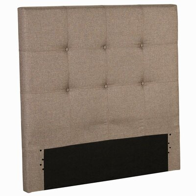 Betty Wood Upholstered Panel Headboard Size: Full, Color: Sand Castle