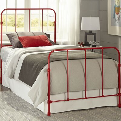 Collin Kids Bed with Metal Duo Panels Size: Full, Color: Candy Red
