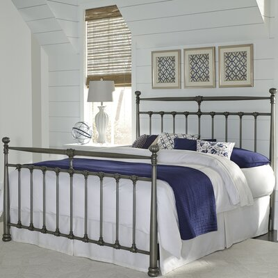 Piccadilly Metal Panel Bed Size: California King