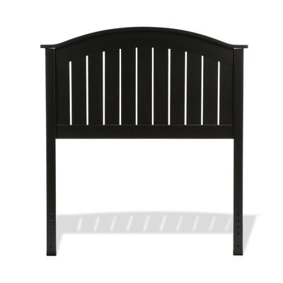 Goodridge Panel Headboard Size: Twin, Color: Black