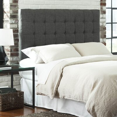 Strasbourg Upholstered Panel Headboard Size: King