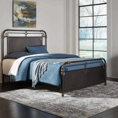 Artem Metal Panel Bed Size: California King