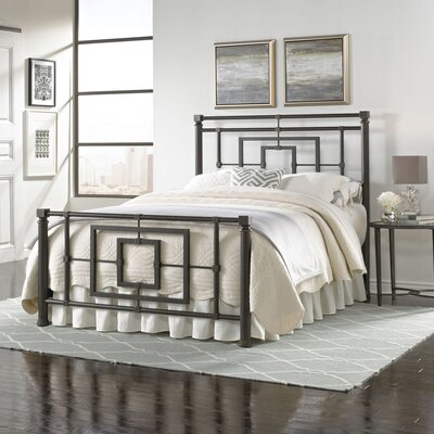 Easton Metal Frame Panel Bed Size: King