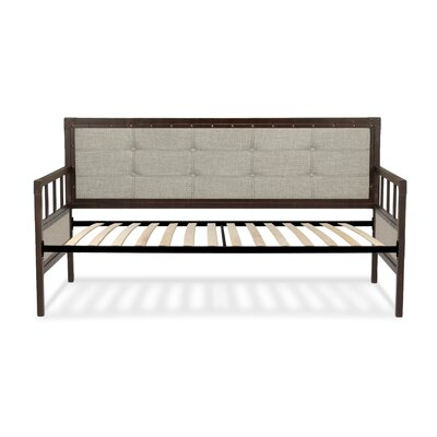 Danvers Twin Metal Daybed with Button-Tufted Upholstery Accessories: Euro Top Deck