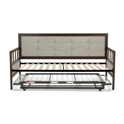 Danvers Twin Metal Daybed with Button-Tufted Upholstery Accessories: Trundle Bed Pop-Up Frame